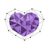 Coeur polygonal Bas poly vecteur Images stock