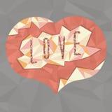 Coeur polygonal rouge Images libres de droits