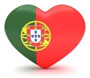 Coeur portugais de drapeau, illustration 3d illustration de vecteur