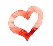 Coeur pour aquarelle Photos stock