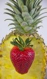 Coeur pour l'ananas images libres de droits