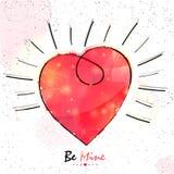 Coeur pour la célébration de jour du ` s de Valentine Image stock