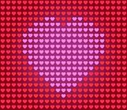 Coeur pour la carte de Valentine Images stock