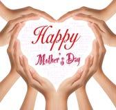 Coeur pour le jour de mère heureux Photo stock