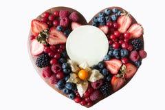 Coeur pour le jour de valentines d'isolement sur le fond blanc Image stock