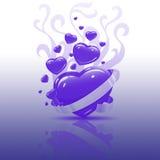 Coeur pourpré Illustration Stock