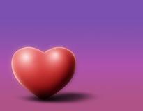 Coeur pourpré Photo libre de droits