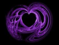 Coeur pourpré Images libres de droits