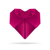 Coeur pourpre d'origami Photographie stock
