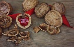 Coeur précieux de noix Photo libre de droits