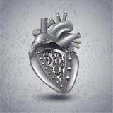 Coeur punk en métal de vapeur avec des vitesses illustration libre de droits