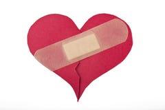 Coeur réparé par bandaid Photos libres de droits