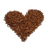 Coeur rôti de grains de café Photo libre de droits