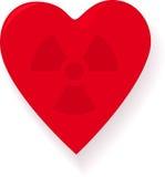 Coeur radioactif Photo libre de droits