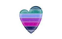 Coeur rayé multicolore Photographie stock libre de droits