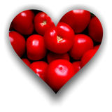 Coeur rempli de tomates illustration de vecteur