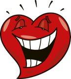 Coeur riant Image libre de droits
