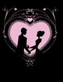Coeur romantique dans le rose Photographie stock libre de droits