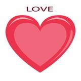 Coeur romantique de rouge d'icône Image stock