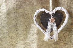 Coeur romantique et blanc Photos libres de droits