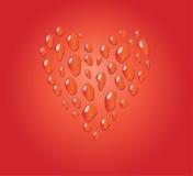 Coeur romantique rouge de baisse Photos libres de droits