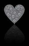 Coeur rond de diamants Photos libres de droits