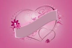 Coeur rose Photos stock