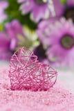 Coeur rose Photo stock
