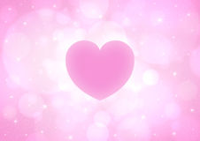 Coeur rose Photographie stock