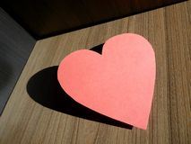 Coeur rose Images stock
