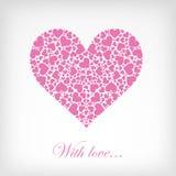 Coeur rose abstrait Photographie stock libre de droits
