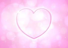 Coeur rose brillant Photos libres de droits
