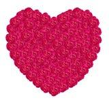 Coeur rose de damassé images stock