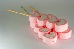 Coeur rose de guimauve Image libre de droits