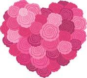 Coeur rose de rose Photo stock