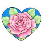 Coeur rose de Rose Photographie stock libre de droits