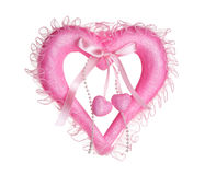 Coeur rose de valentine Image libre de droits