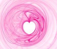 Coeur rose de Valentine Photographie stock libre de droits