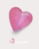Coeur rose de Valentines Photographie stock