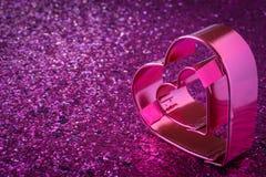 Coeur rose pour le jour de valentines images libres de droits