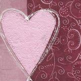 Coeur rose sur le fond de collage illustration stock