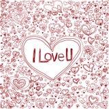 Coeur rose sur le fond de modèle pour le jour de valentine Images libres de droits