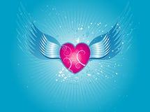 Coeur rose, vecteur Photos stock