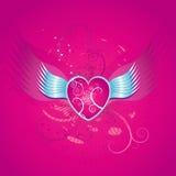 Coeur rose, vecteur   Photo stock