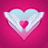 Coeur rose, vecteur illustration libre de droits