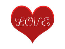 Coeur rouge Images libres de droits
