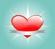 Coeur rouge Illustration Libre de Droits