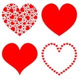 Coeur rouge abstrait Photographie stock libre de droits