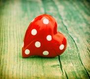 Coeur rouge Amour et jour de valentines Type de cru Photos libres de droits