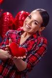 Coeur rouge, amour, mignon - aimez le concept Photographie stock